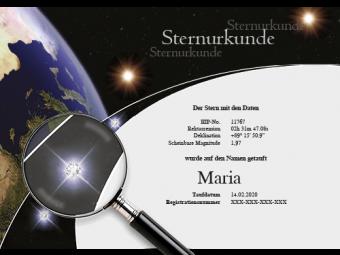 Deluxe-Urkunde mit Swarovski®